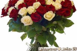 букет из розы микс 101 штука