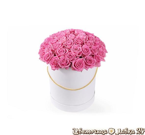 шляпная коробка из 59 роз