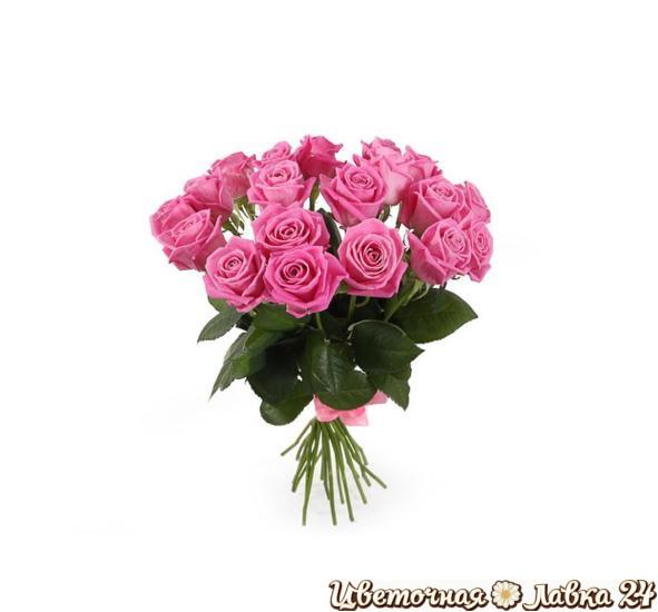 букет из розы аква 19 штук